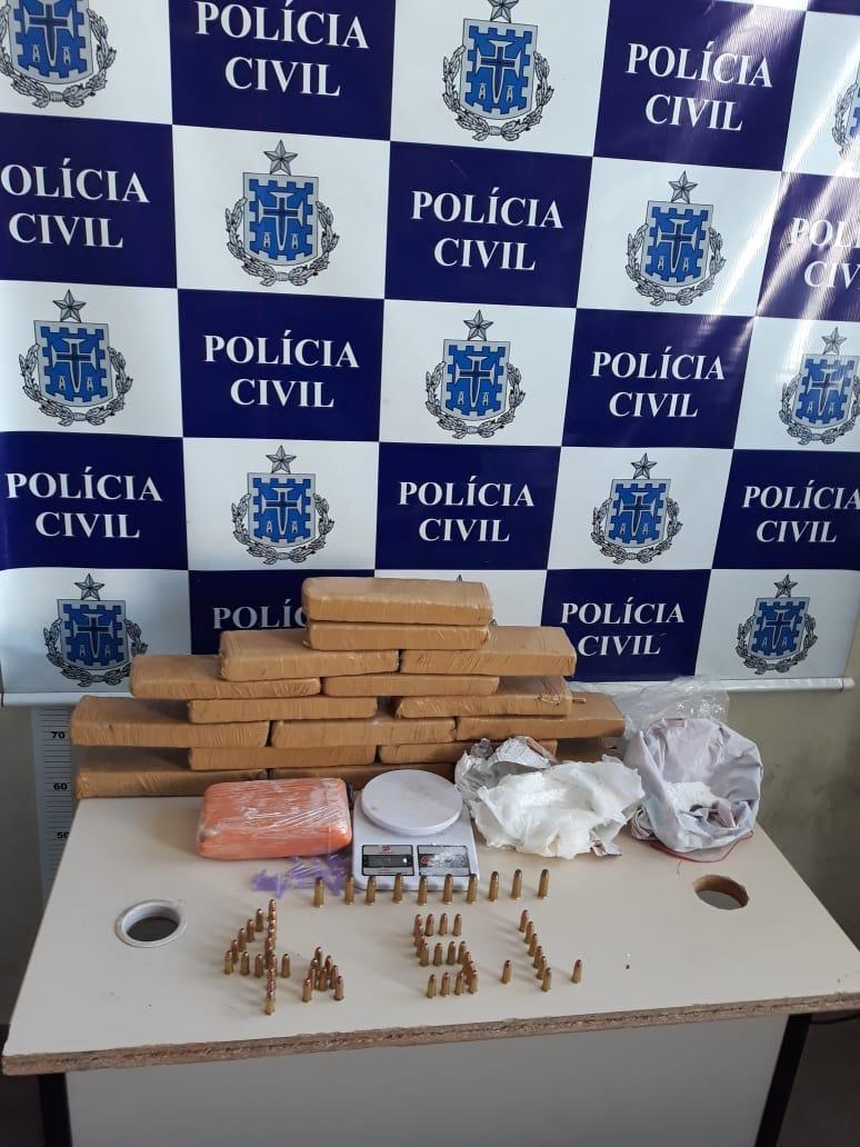 Drogas e munições de uso restrito são apreendidas em residência no Loteamento Maria Amélia