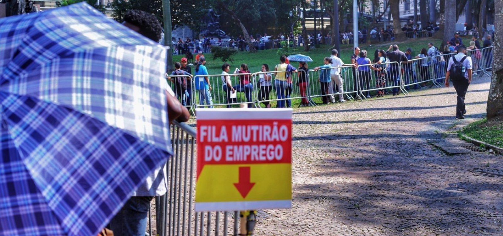 taxa de desemprego cai no Brasil diz dado do Ipea