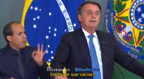 Bolsonaro questiona vacinação contra Covid em jovens